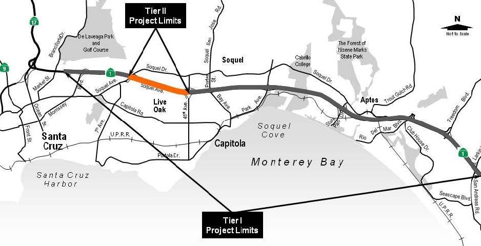 HWY1 corridor map
