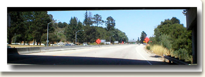 Hwy 17 southbound lane view from northbound