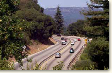 Highway 17 at Glenwood Curve