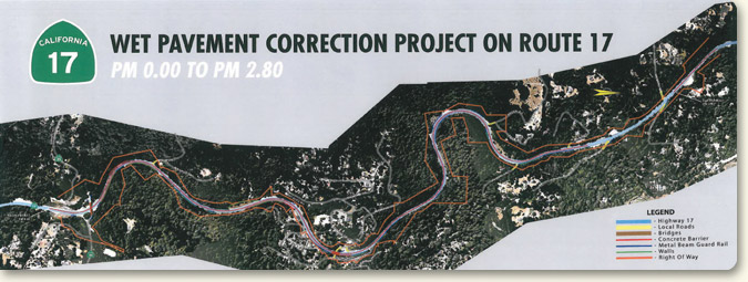 Santa Clara County Wet Pavement Correction Project limits map