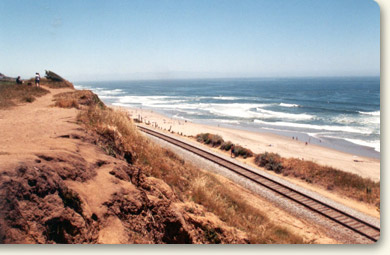 Railroad Along Coastline
