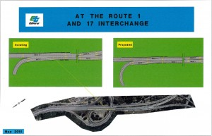 diagram of highway improvements