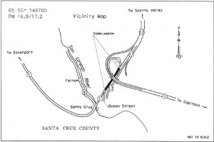 map of project location in Santa Cruz